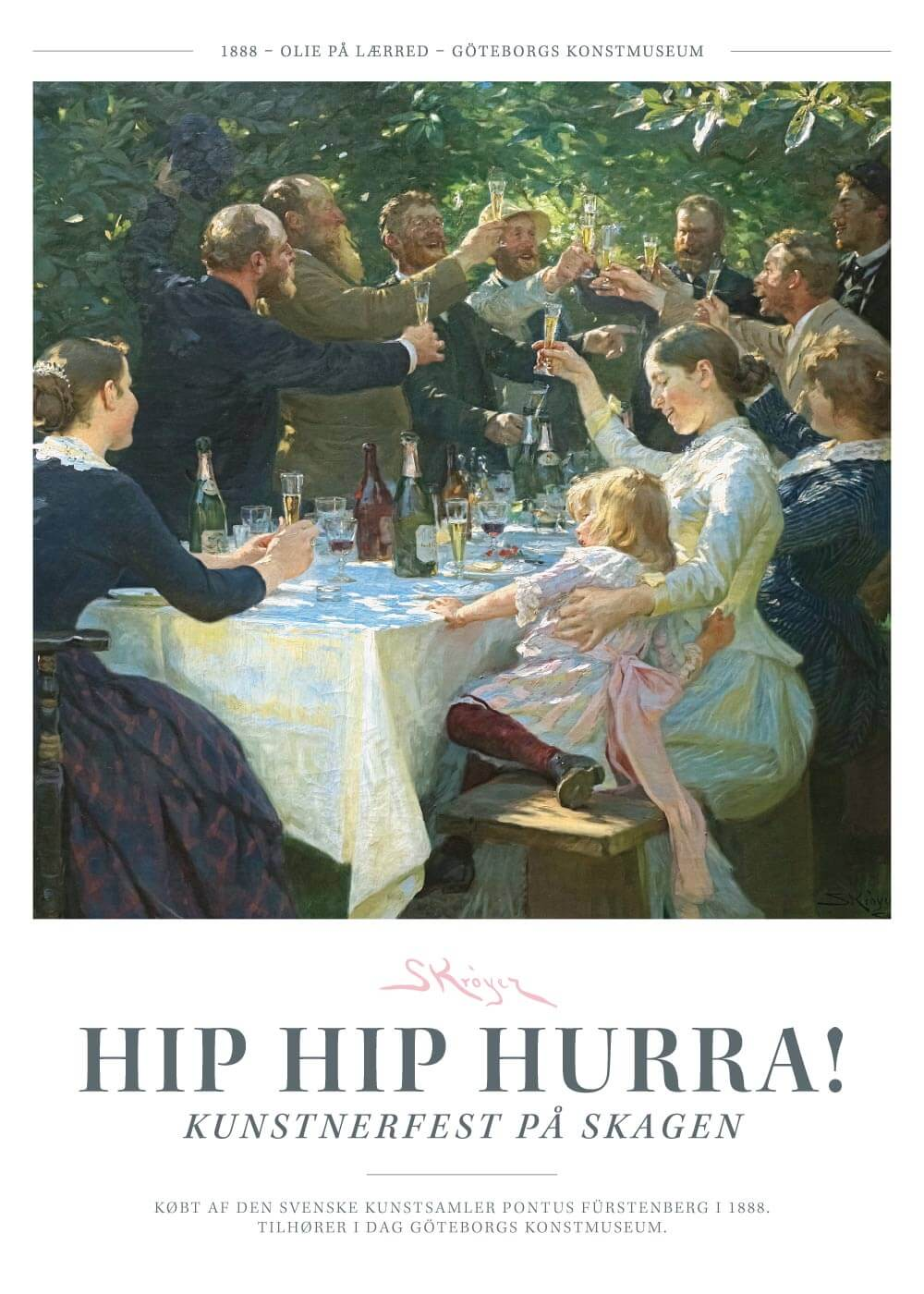 Hip hip hurra! - P.S. Krøyer plakat
