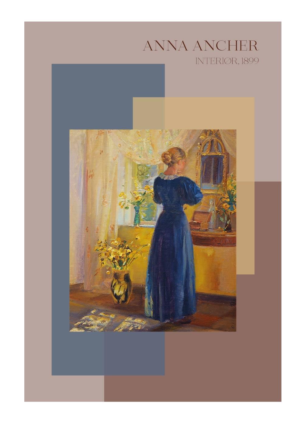 Billede af Interiør - Anna Ancher plakat