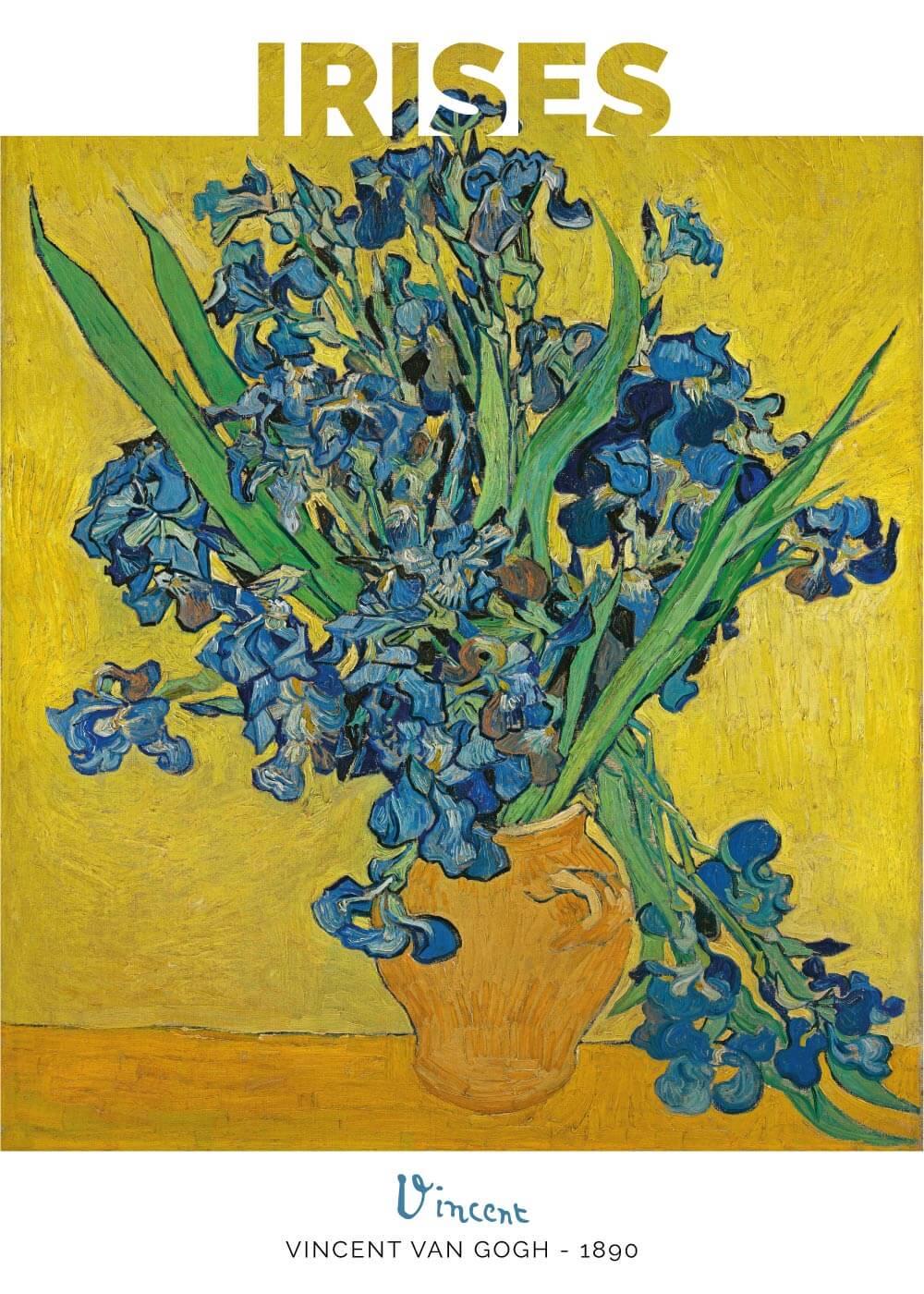 Billede af Blue Irises - Vincent Van Gogh