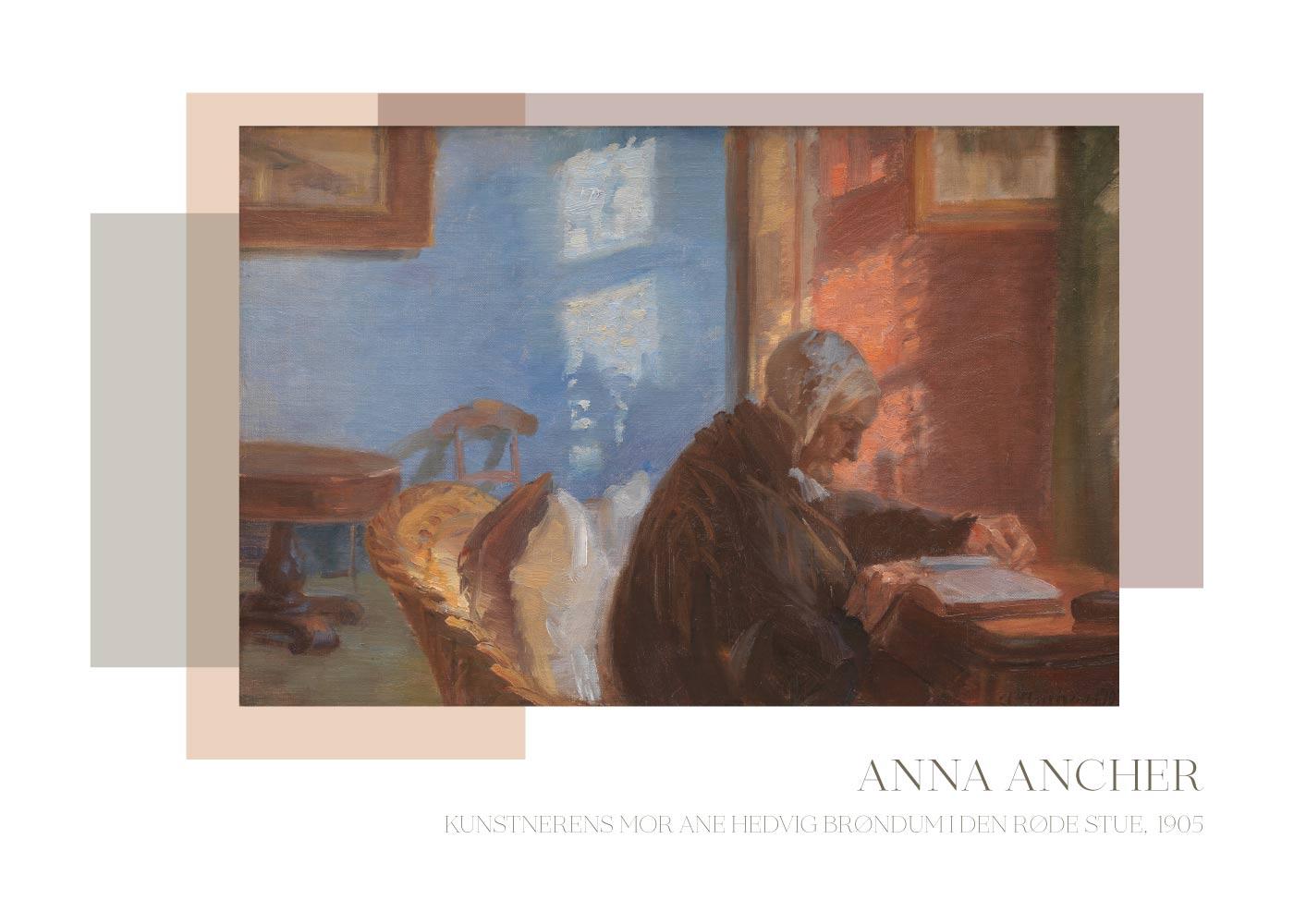 Billede af Kunstnerens mor - Anna Ancher plakat