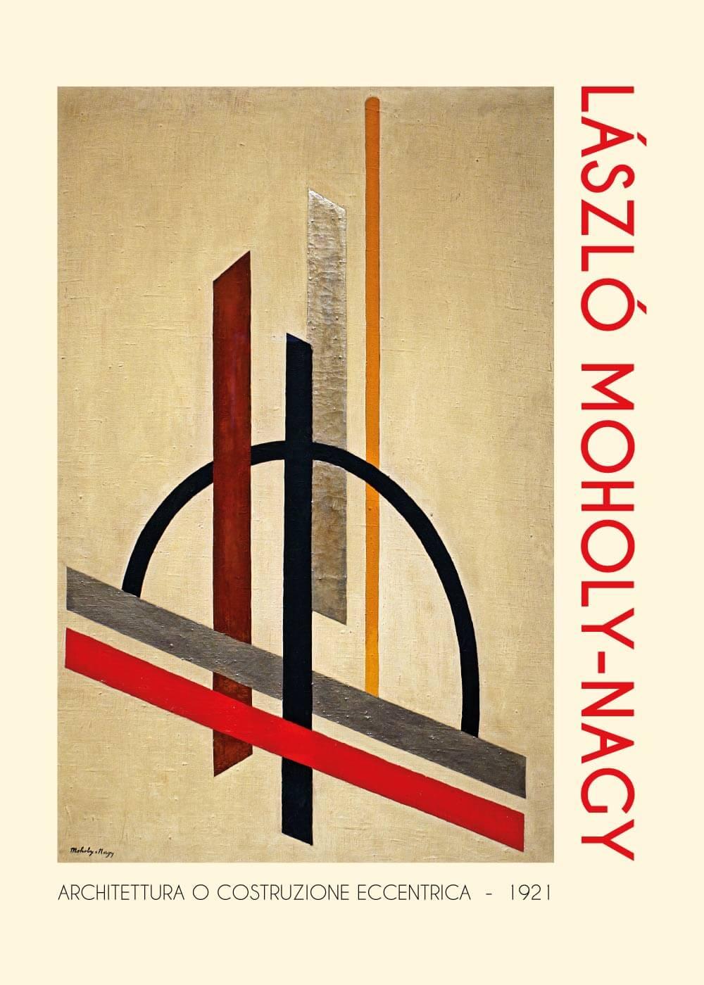 Billede af Architettura o costrozione eccentrica - László Moholy-Nagy kunstplakat