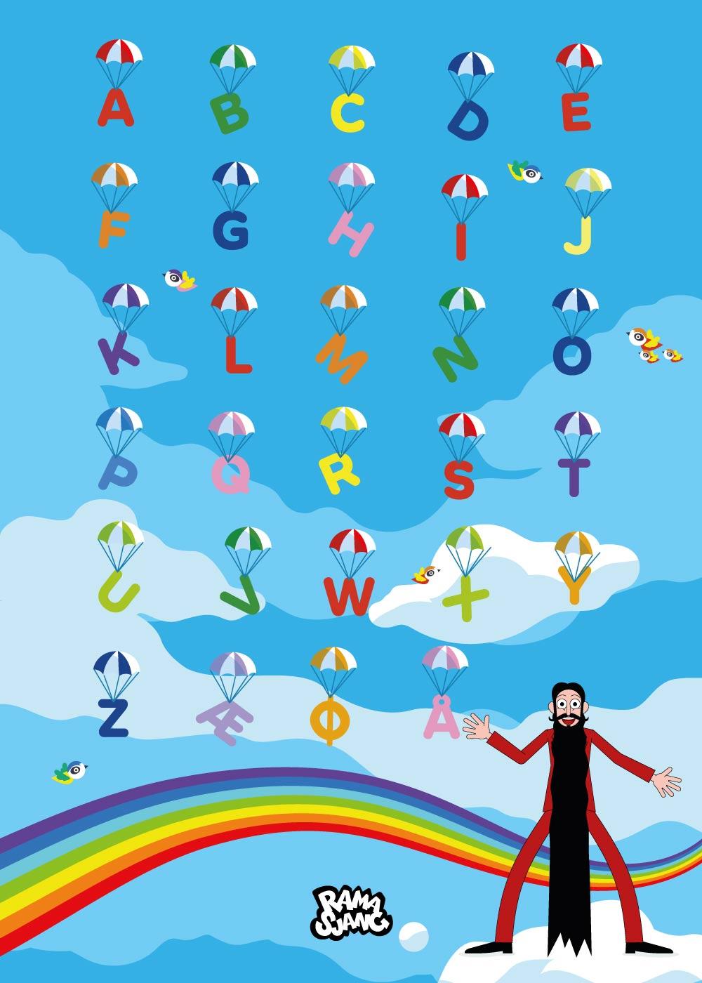 Billede af Lær alfabetet med Hr. Skæg - Ramasjang plakat