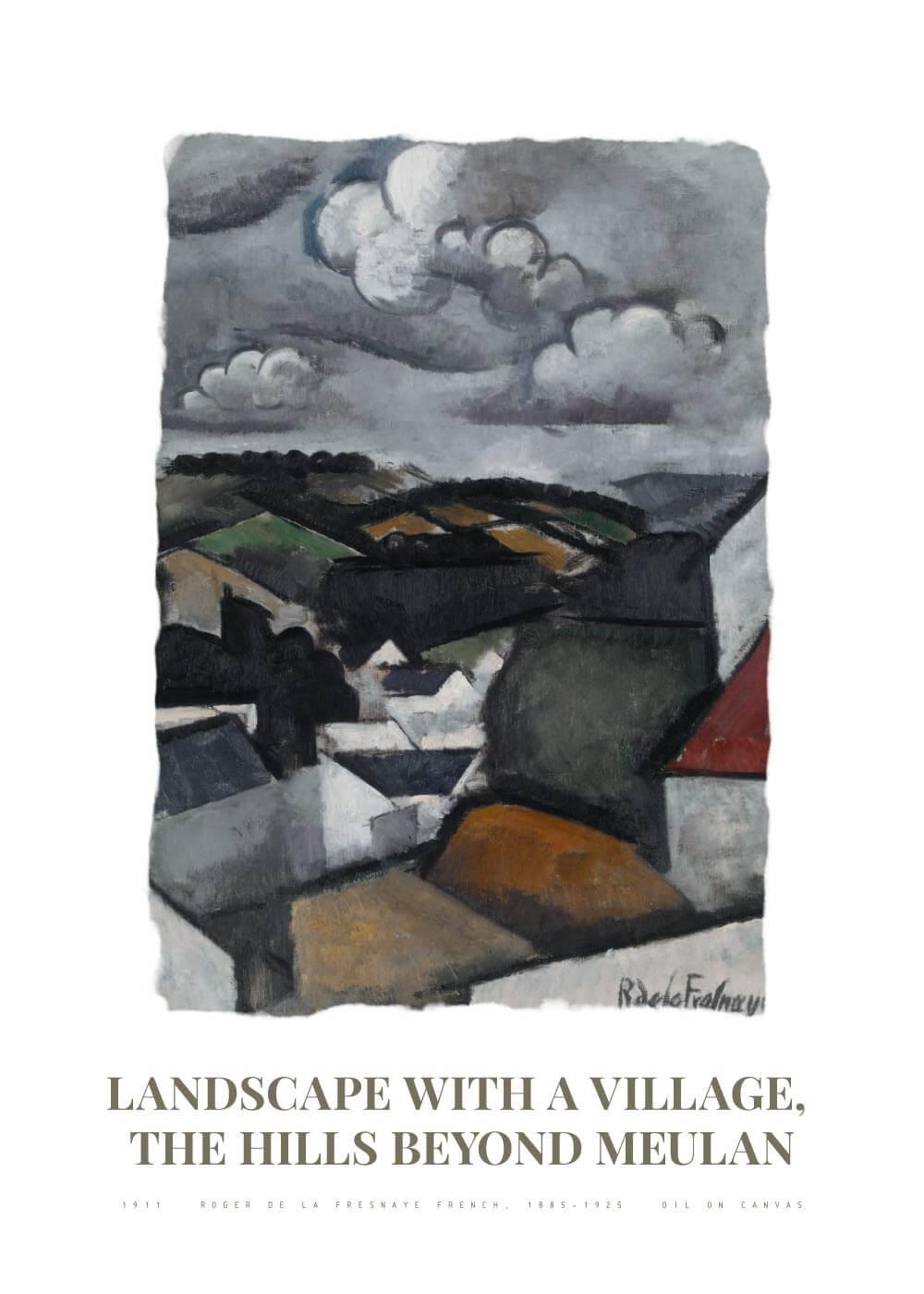 Landscape with a village - Roger de La Fresnaye