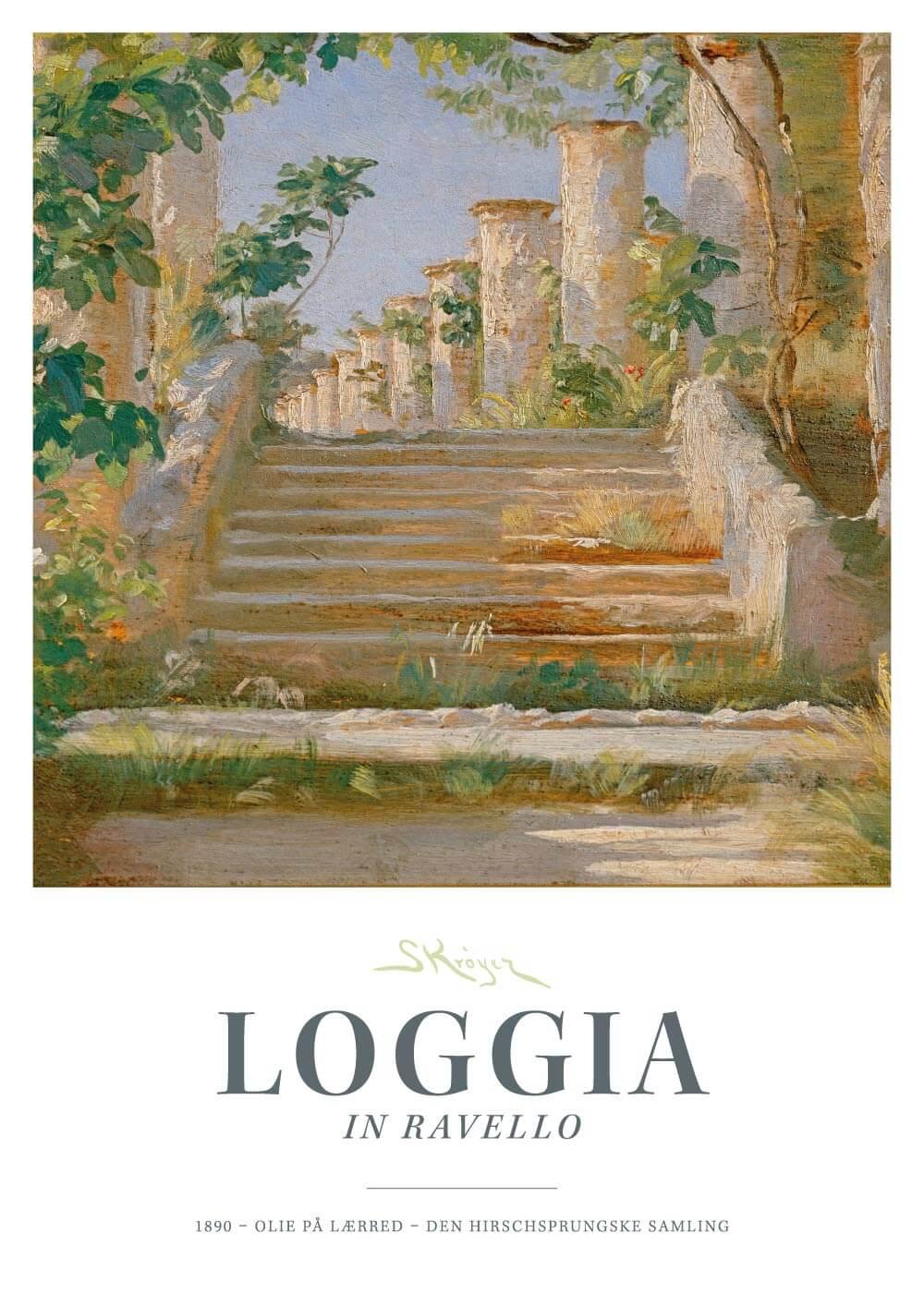 Loggia in Ravello - P.S. Krøyer plakat
