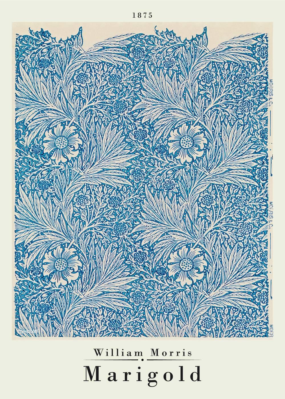 Billede af Marigold - William Morris kunstplakat