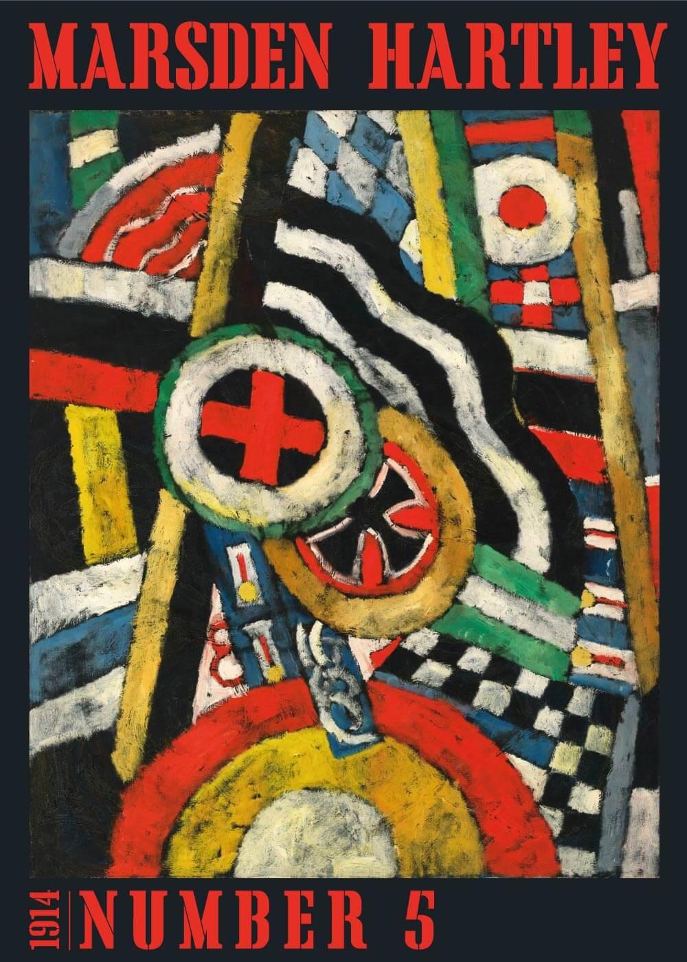 Billede af Painting no. 5 - Marsden Hartley