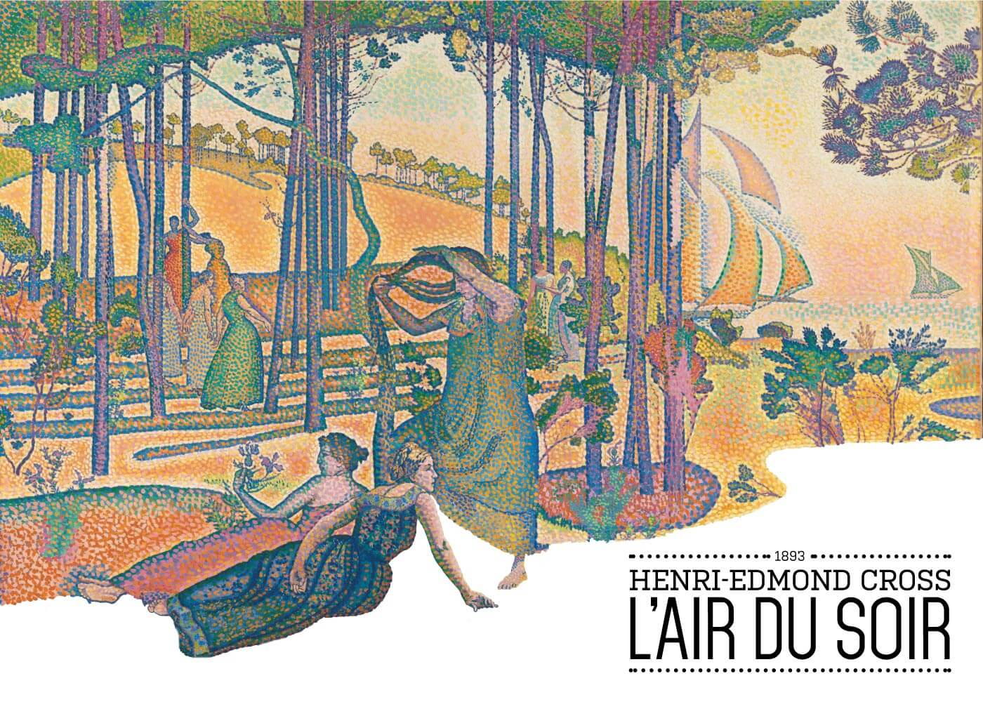 Billede af L'air du soir - Henri-Edmond Cross