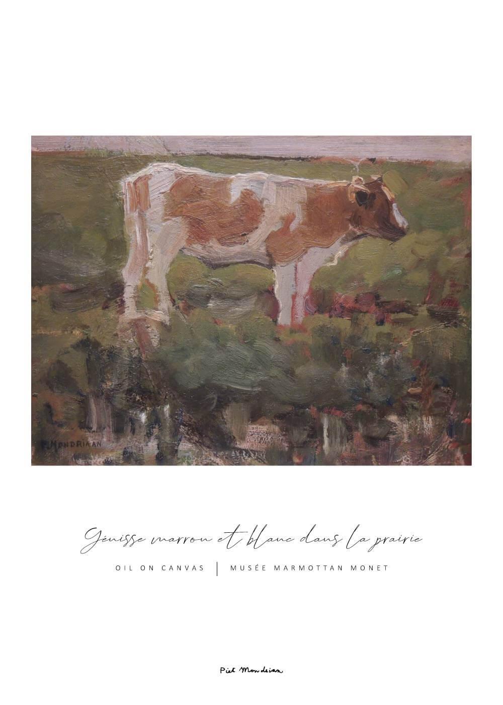 Billede af Yénisse marrow et blanc dans la prairie - Piet Mondrian