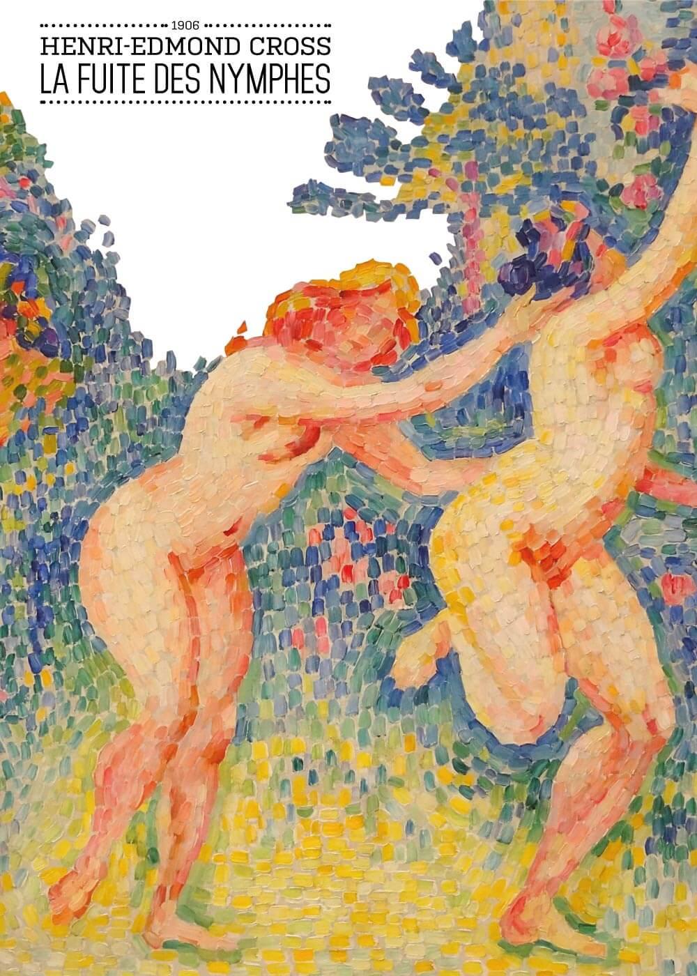La fuite des Nymphes - Henri-Edmond Cross