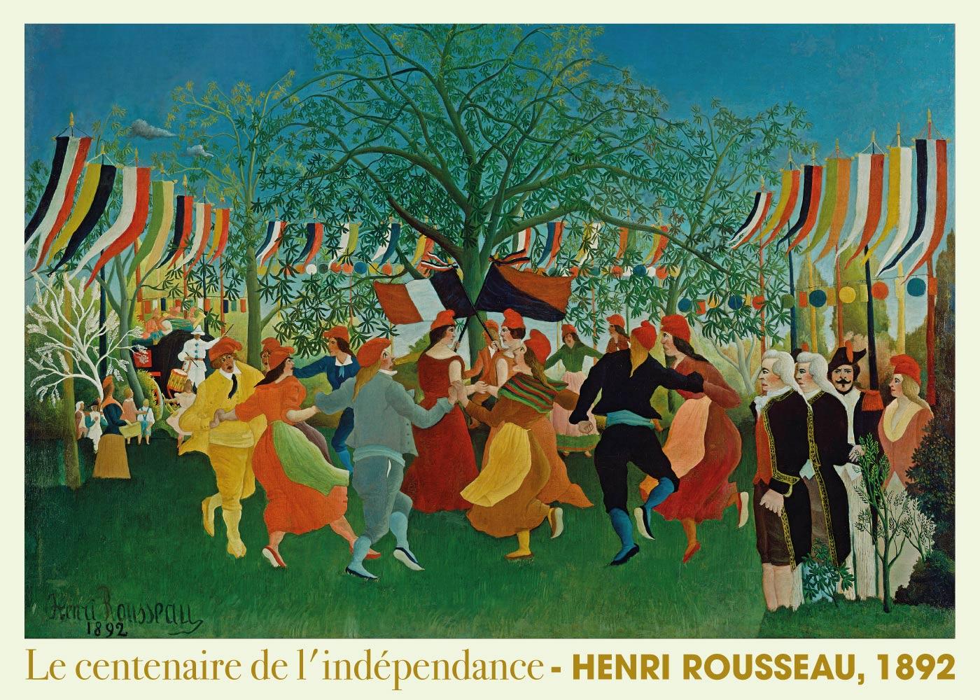 Billede af Le centenaire de l'indépendance - Henri Rousseau