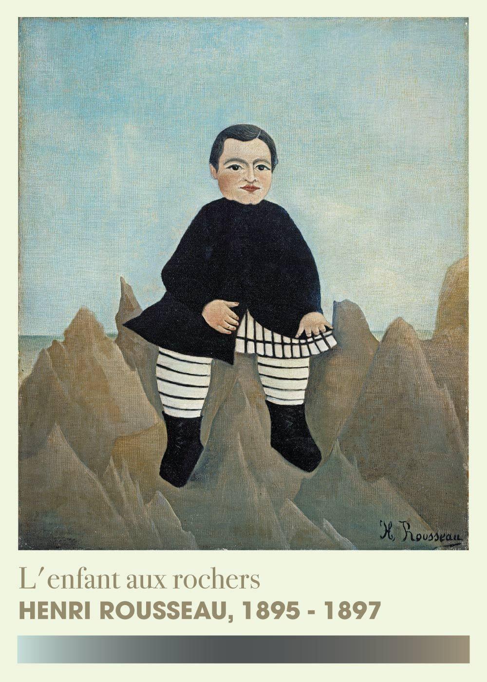 Billede af L'enfant aux rochers - Henri Rousseau