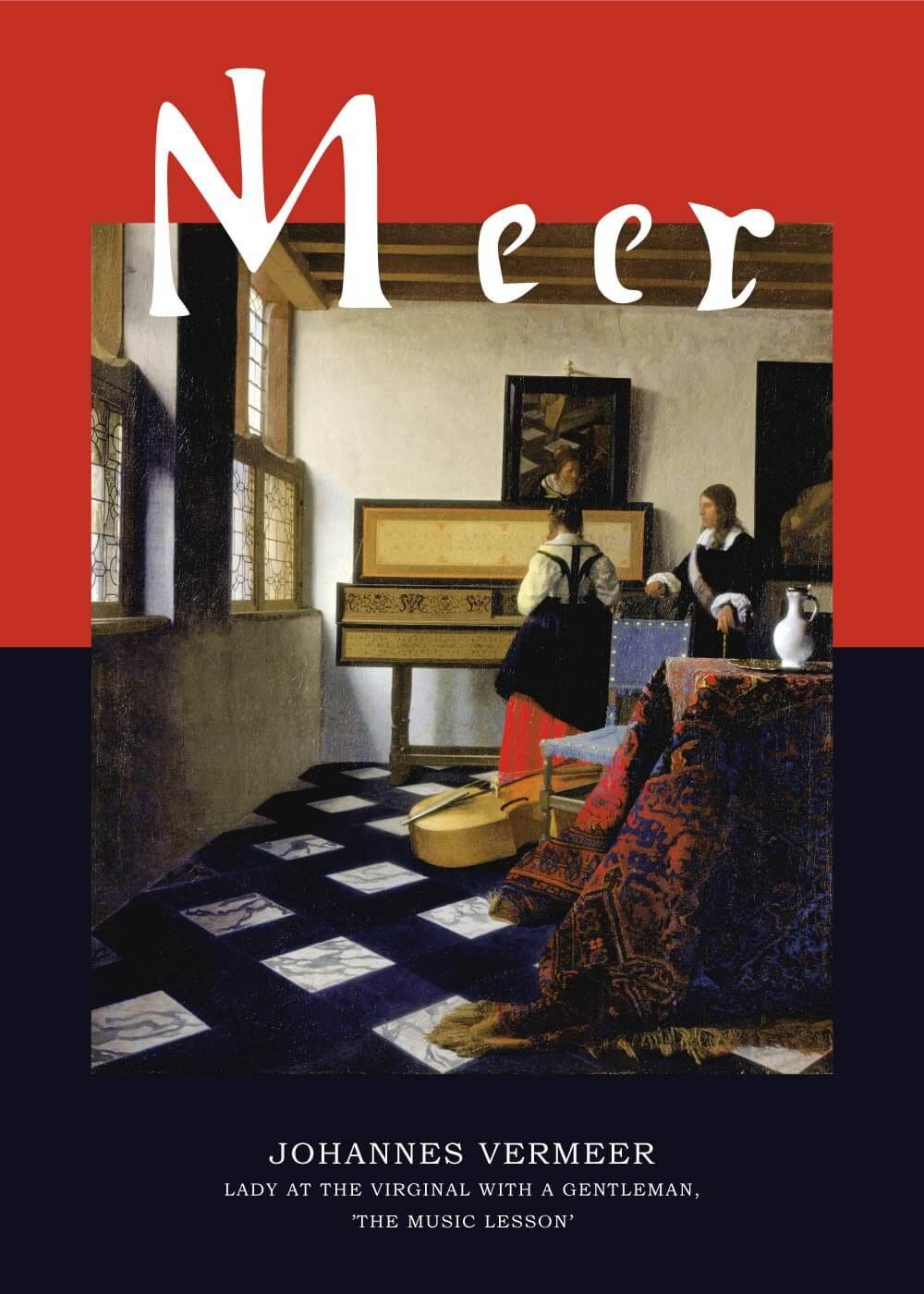 Billede af The Music Lesson - Johannes Vermeer