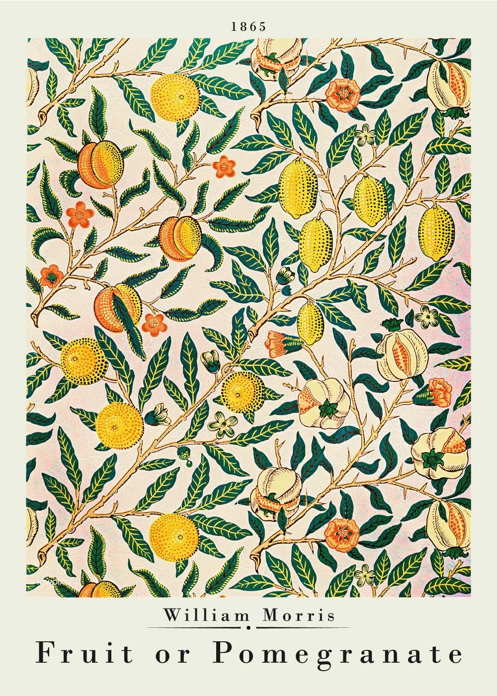 Fruit or pomegranate - William Morris kunstplakat