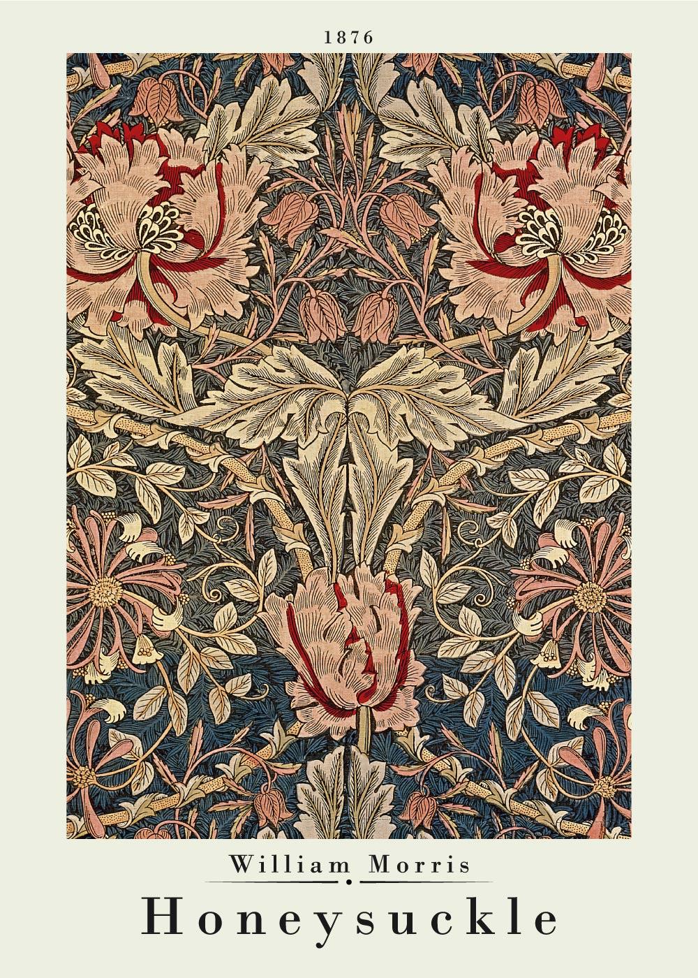 Billede af Honeysuckle - William Morris kunstplakat