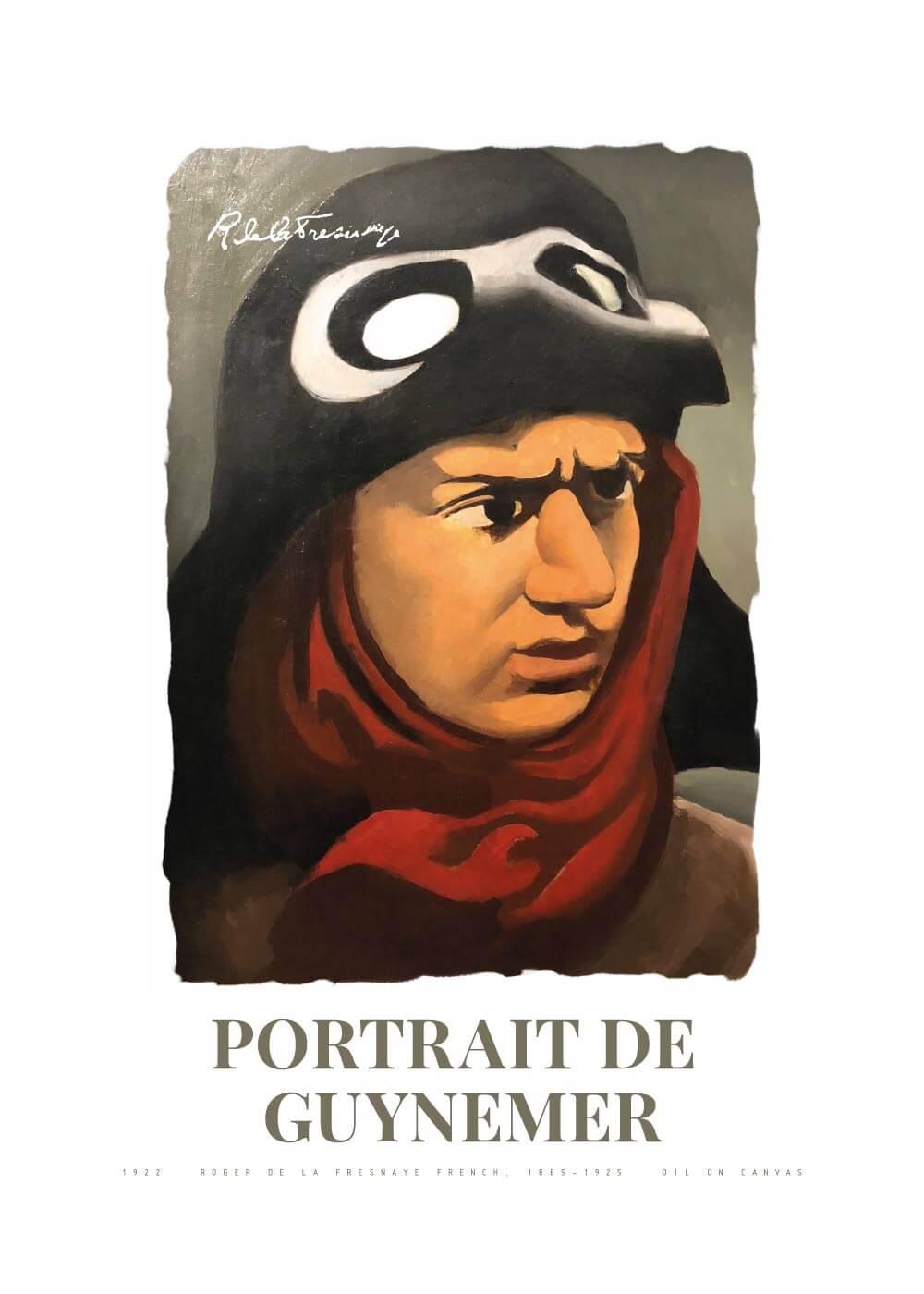 Billede af Portrait de Guynemer - Roger de La Fresnaye