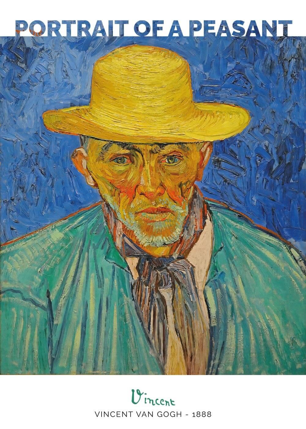 Billede af Portrait of a peasant - Vincent Van Gogh