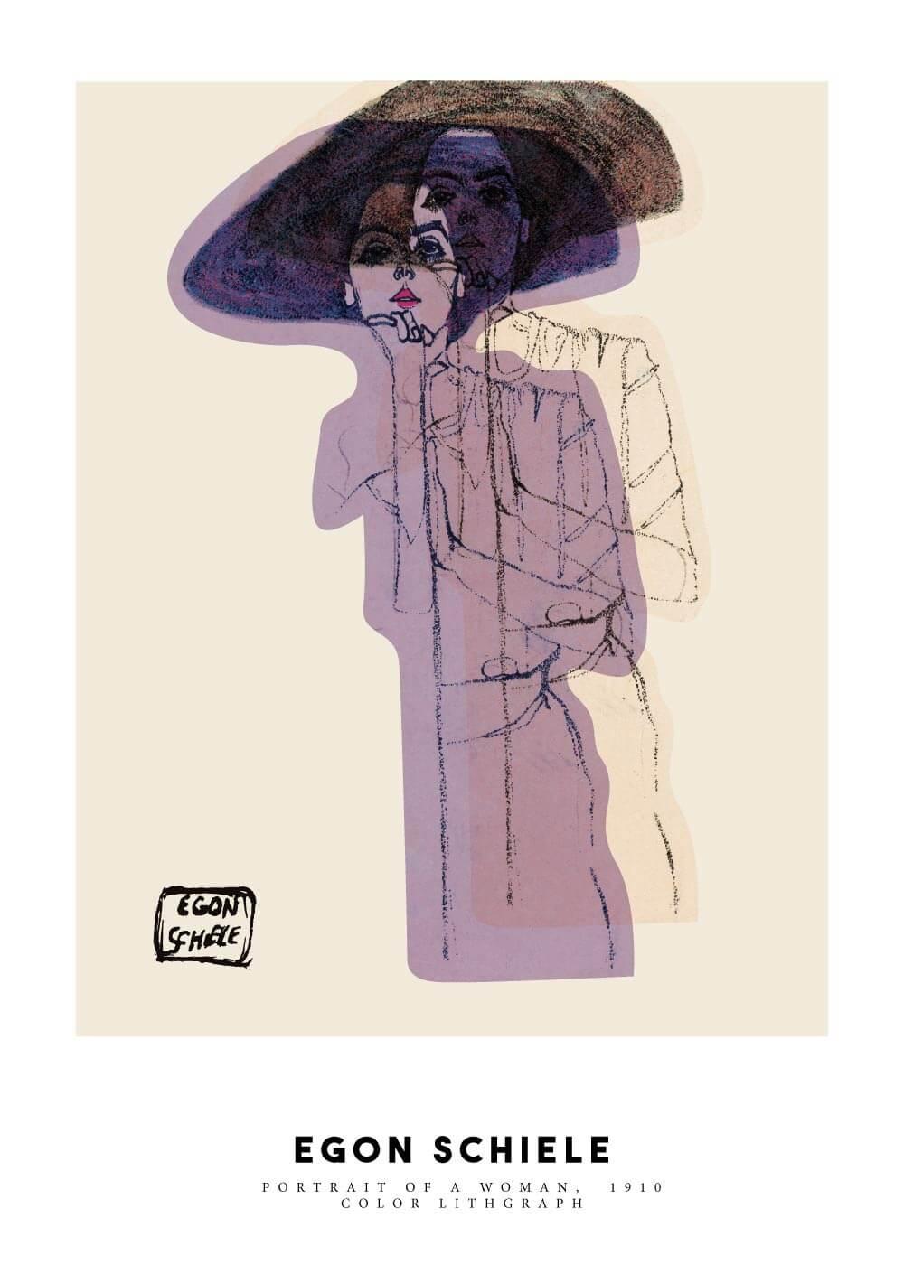 Billede af Portrait of a woman - Egon Schiele