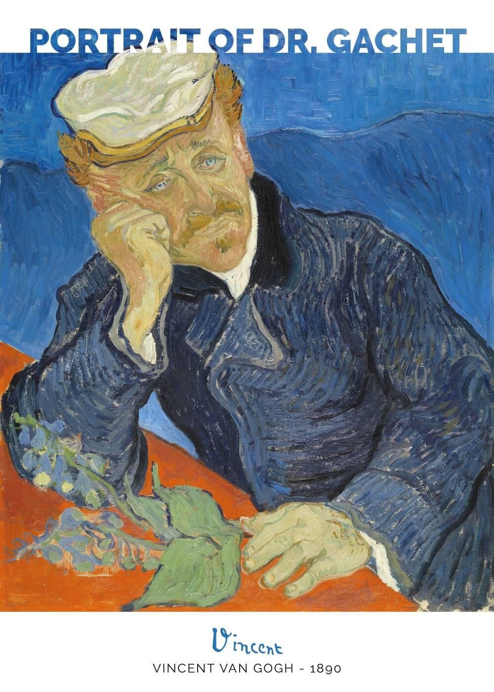 Billede af Portrait of Dr. Gachet - Vincent Van Gogh