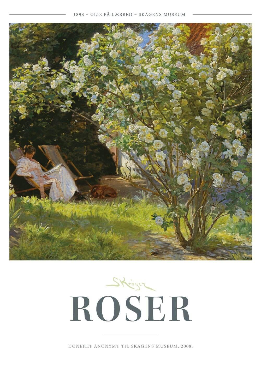 Roser - P.S. Krøyer plakat