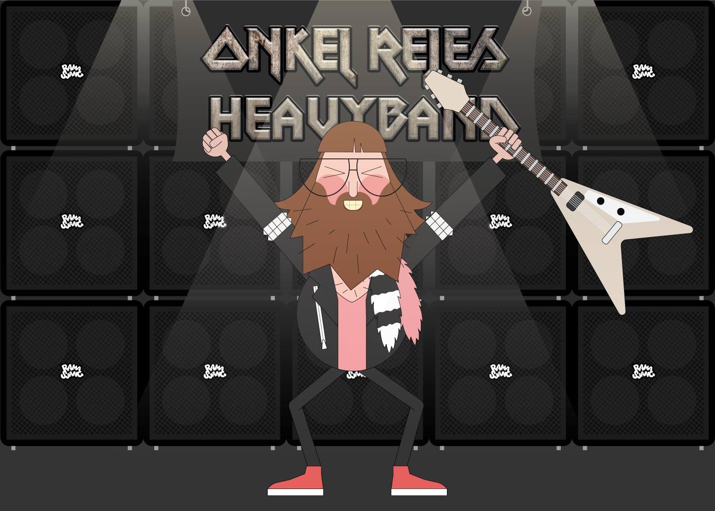 Billede af Onkel Rejes Heavyband - Ramasjang plakat