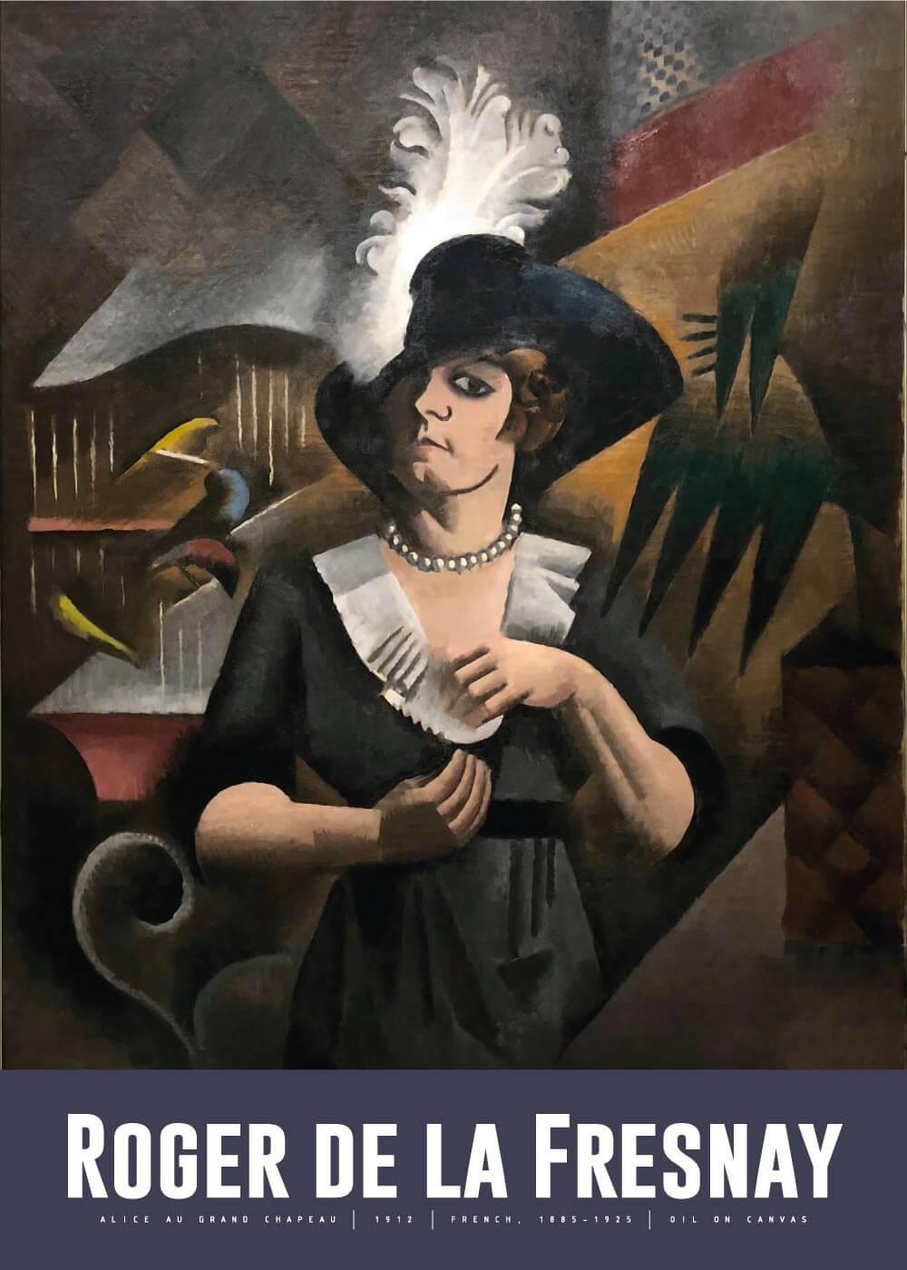 Billede af Alice au grand chapeau - Roger de La Fresnaye