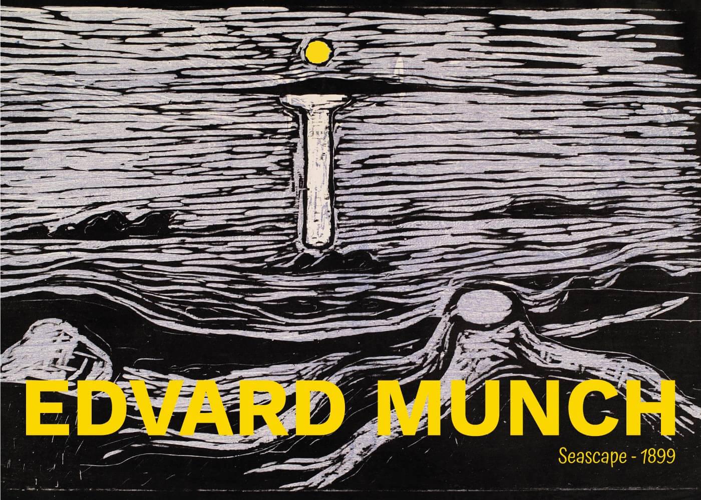 Billede af Seascape - Edvard Munch