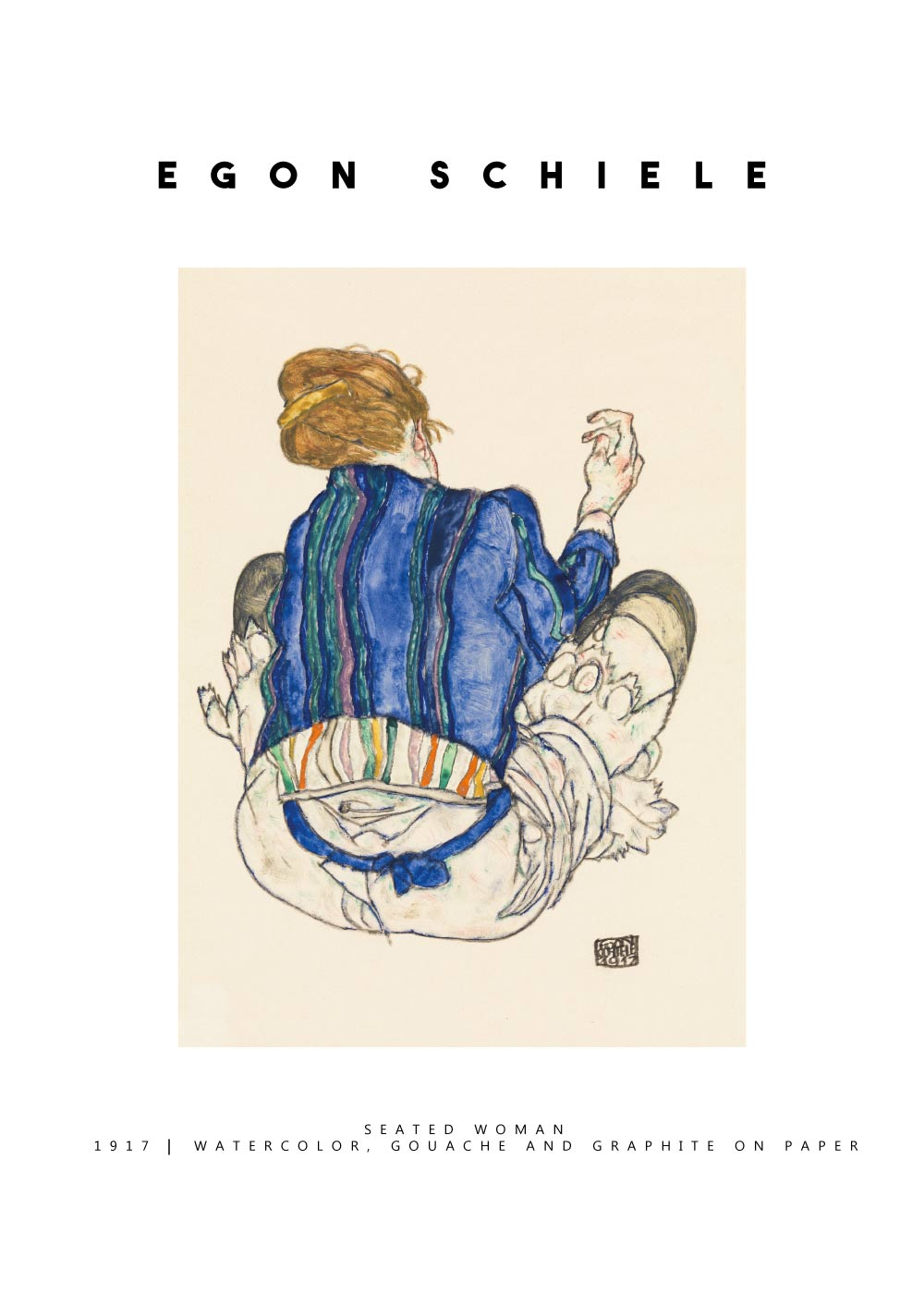 Billede af Seated woman - Egon Schiele