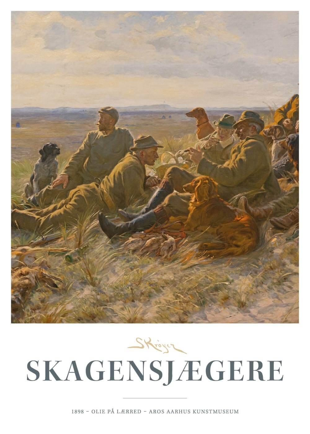 Billede af Skagensjægere - P.S. Krøyer plakat