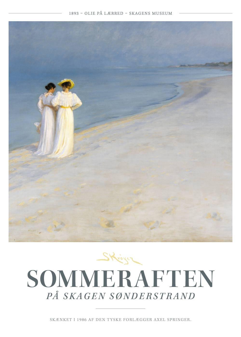 Sommeraften - P.S. Krøyer plakat