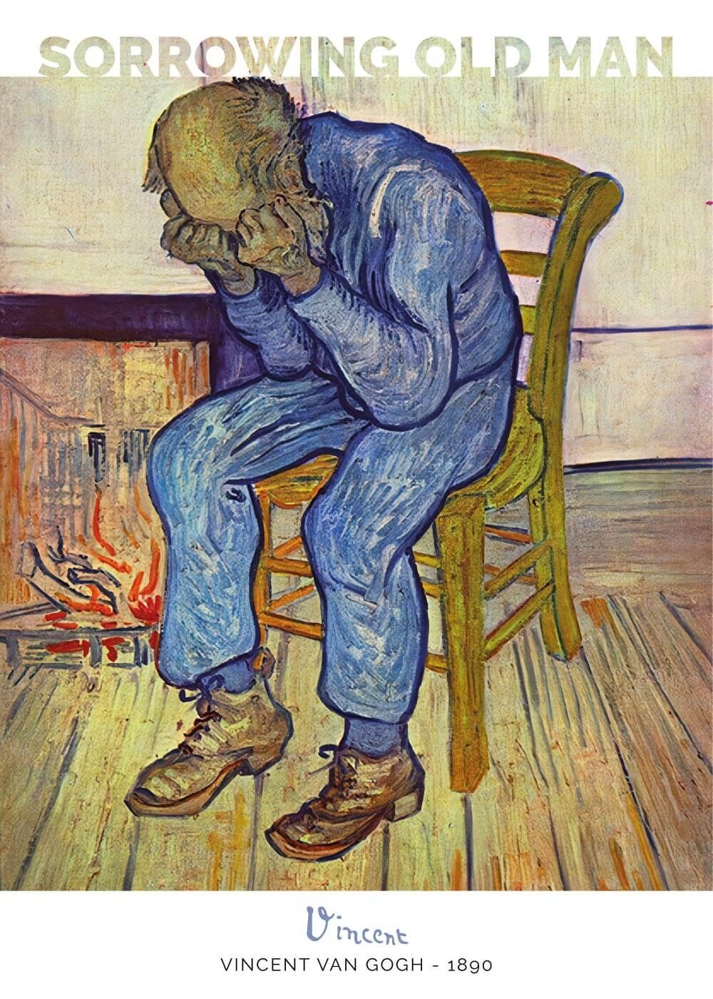 Billede af Sorrowing old man - Vincent Van Gogh