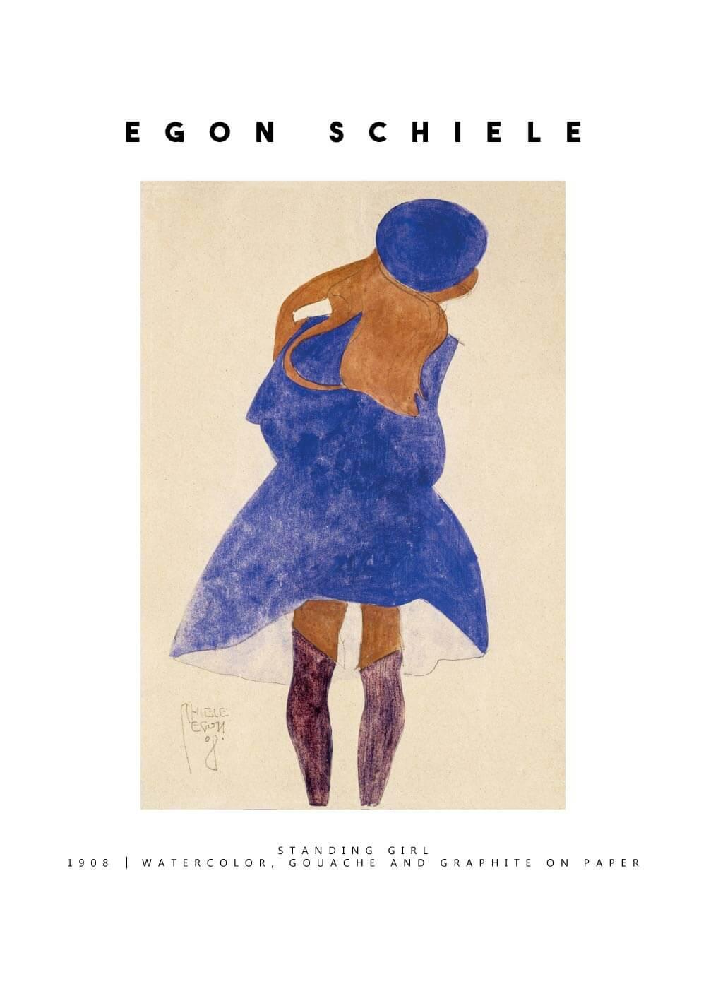 Billede af Standing girl - Egon Schiele