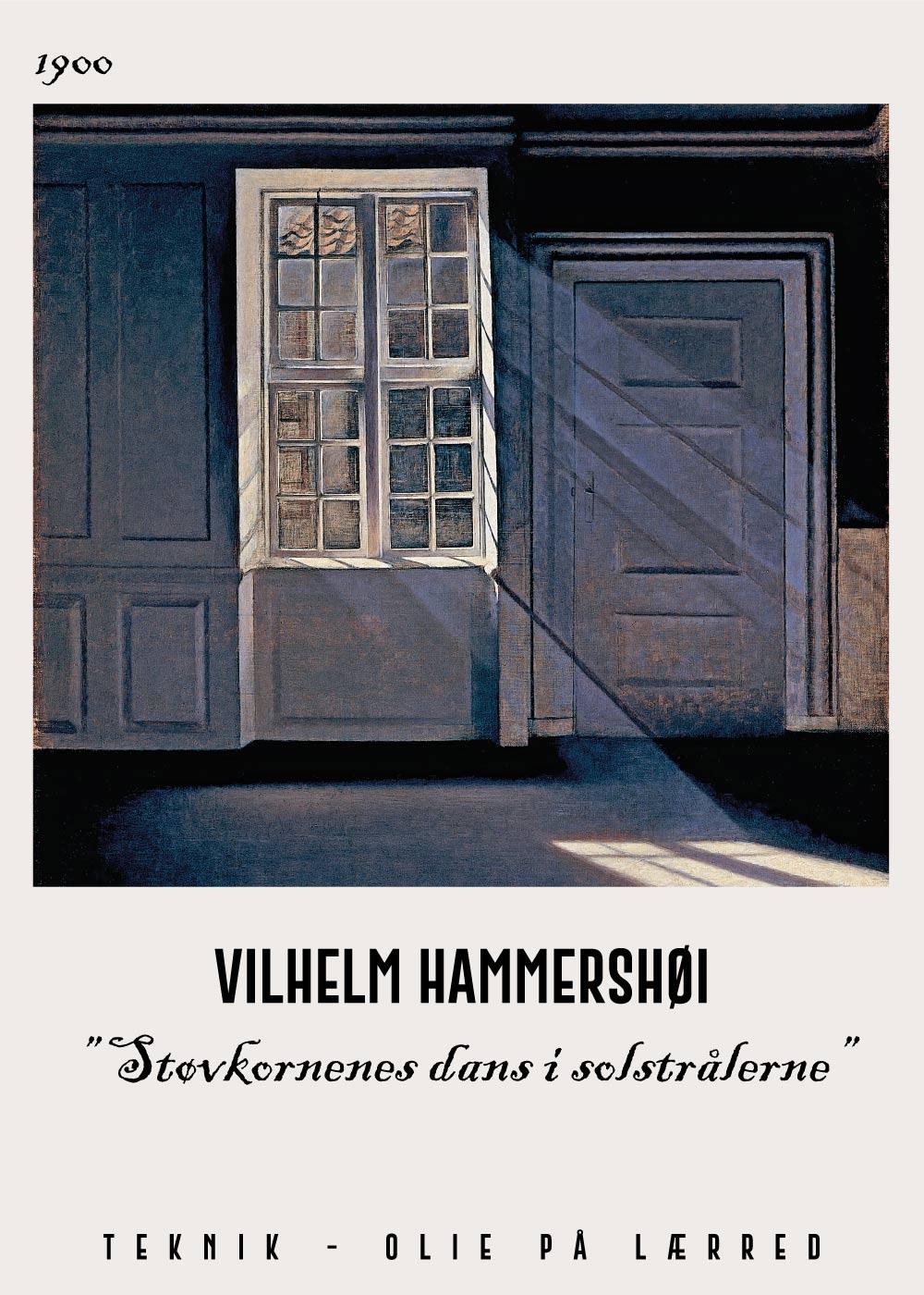 Billede af Støvkornenes dans i solstra%CC%8Alerne - Vilhelm Hammershøi Kunstplakat