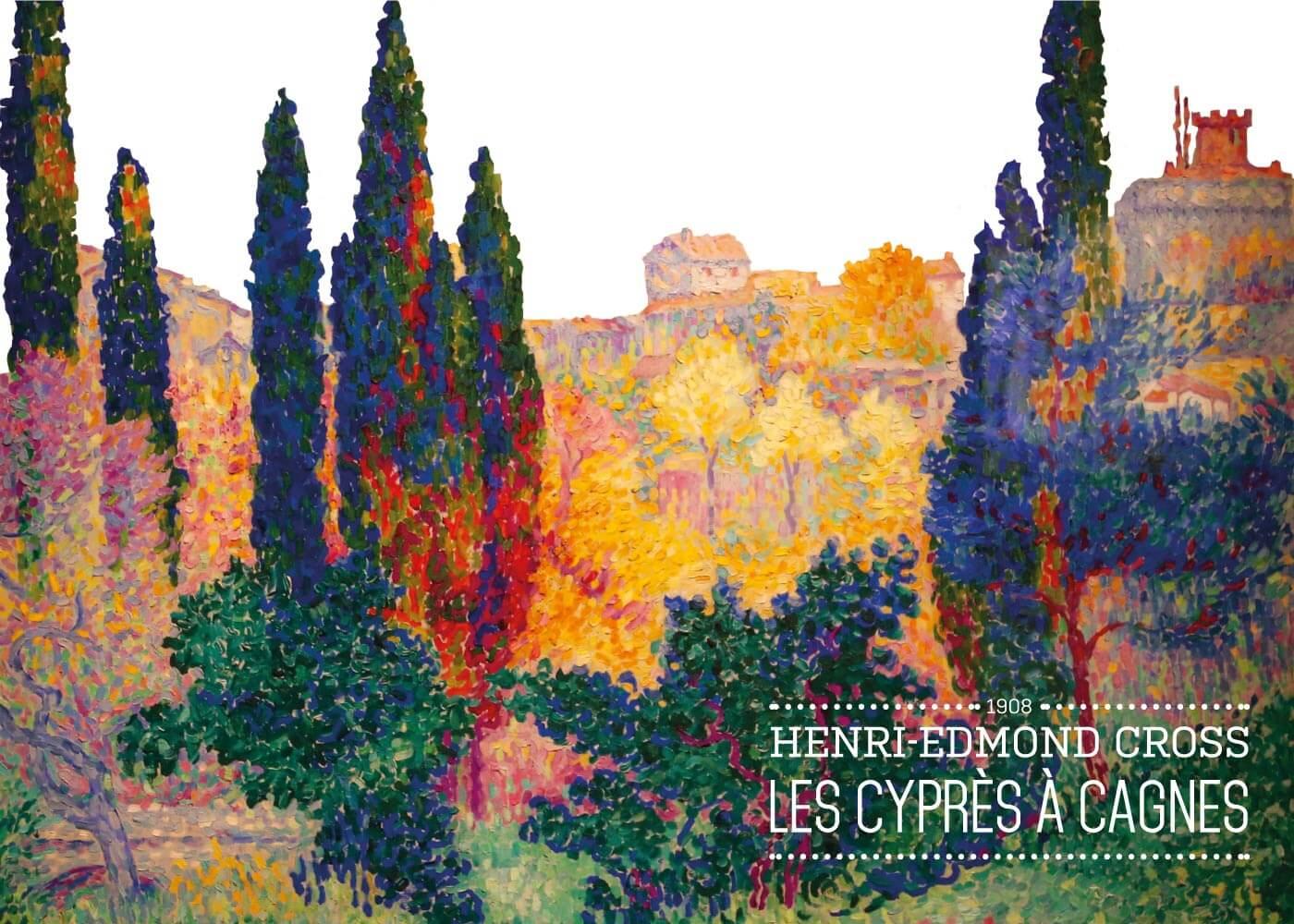 Billede af Les Cyprése á cagnes - Henri-Edmond Cross