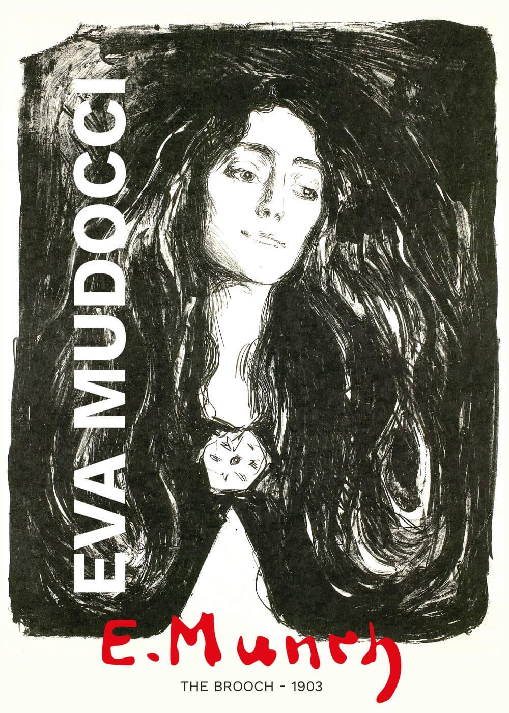 Billede af The brooch - Edvard Munch