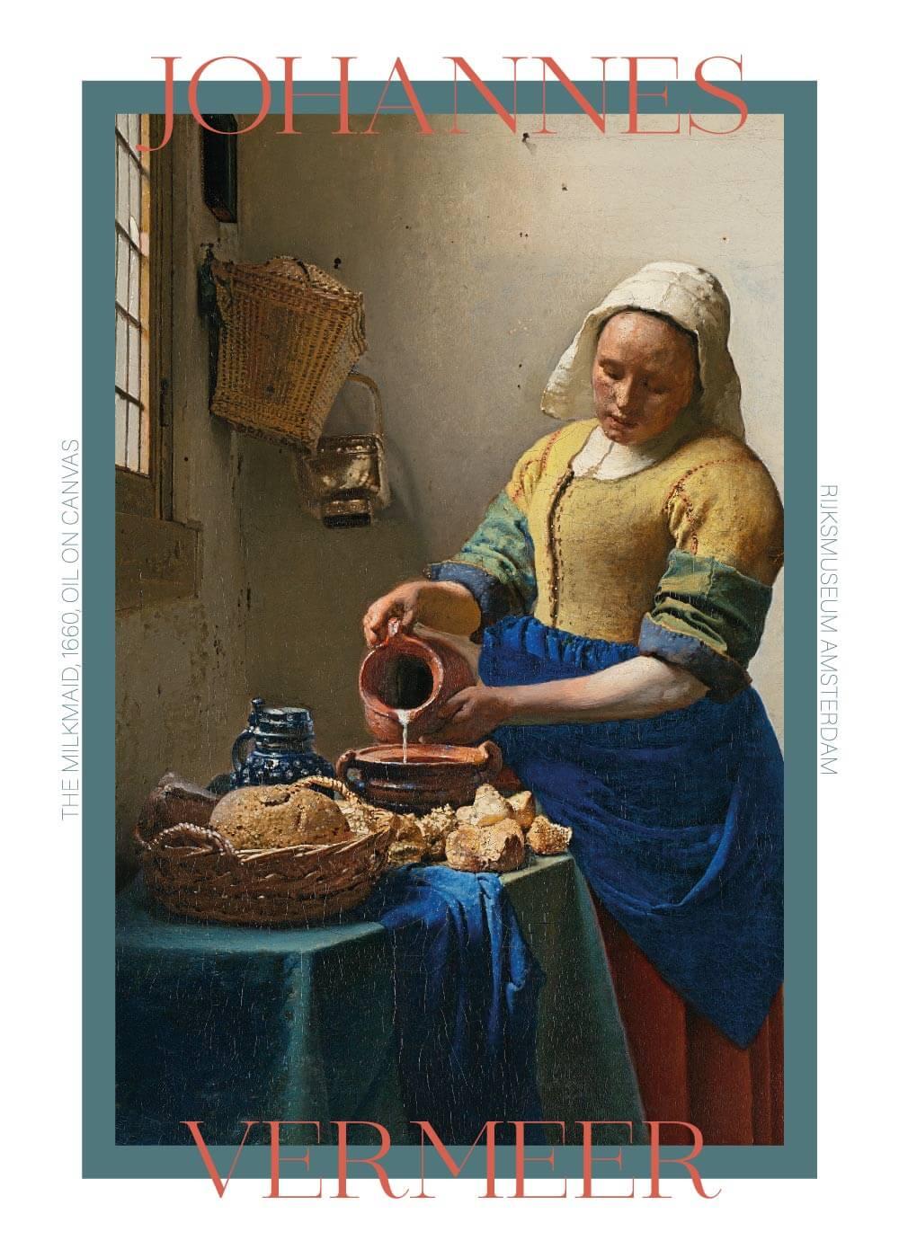 Billede af The Milkmaid - Johannes Vermeer