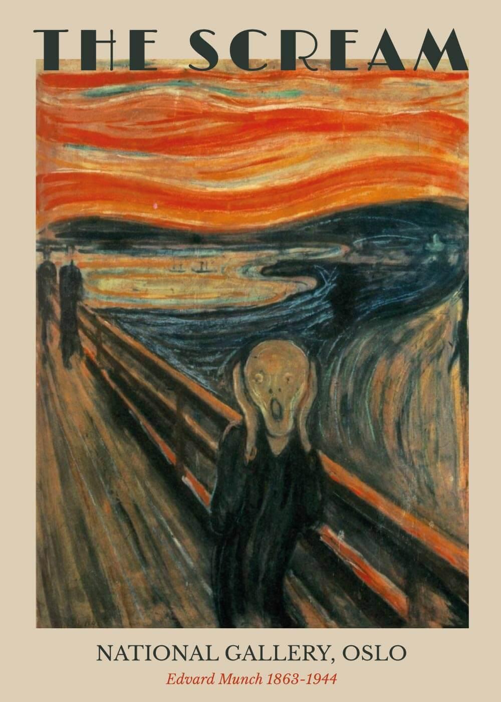 Billede af Skriget - Edvard Munch