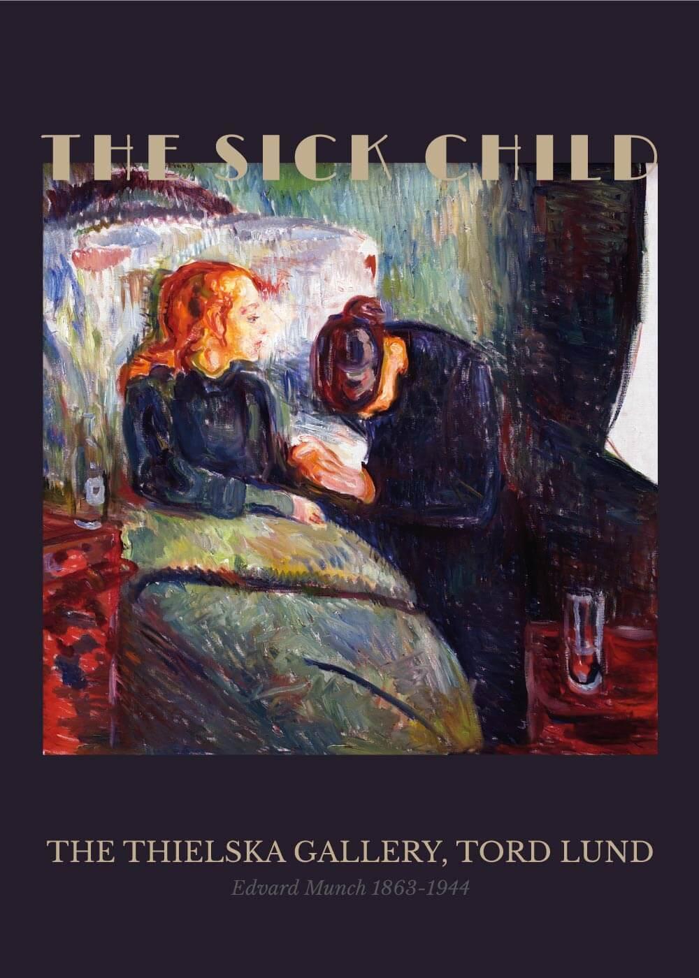Billede af The sick child - Edvard Munch