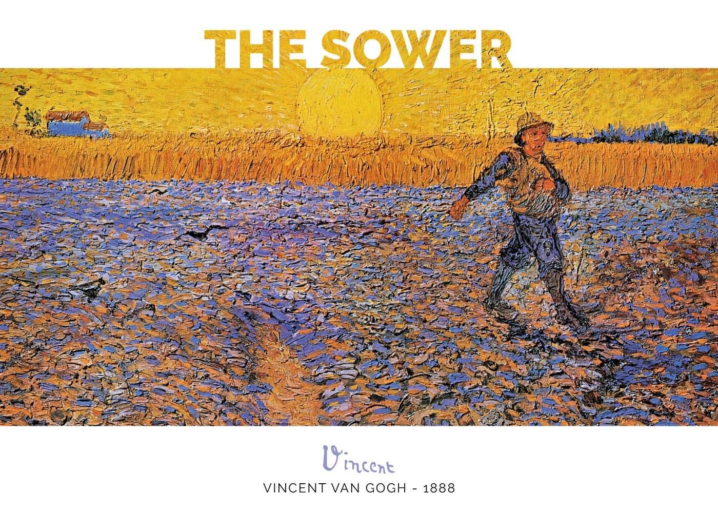 Billede af The Sower - Vincent Van Gogh