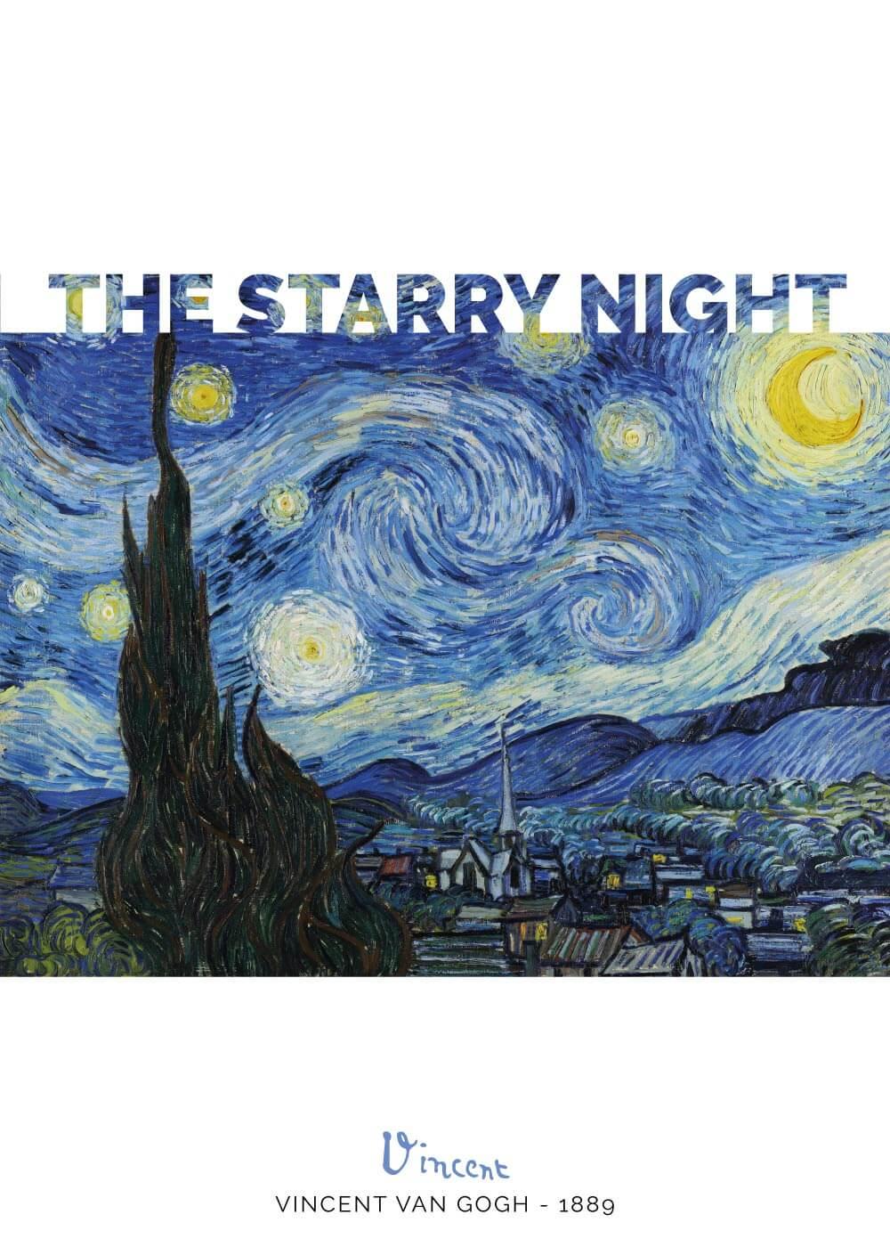 Billede af The starry night - Vincent Van Gogh
