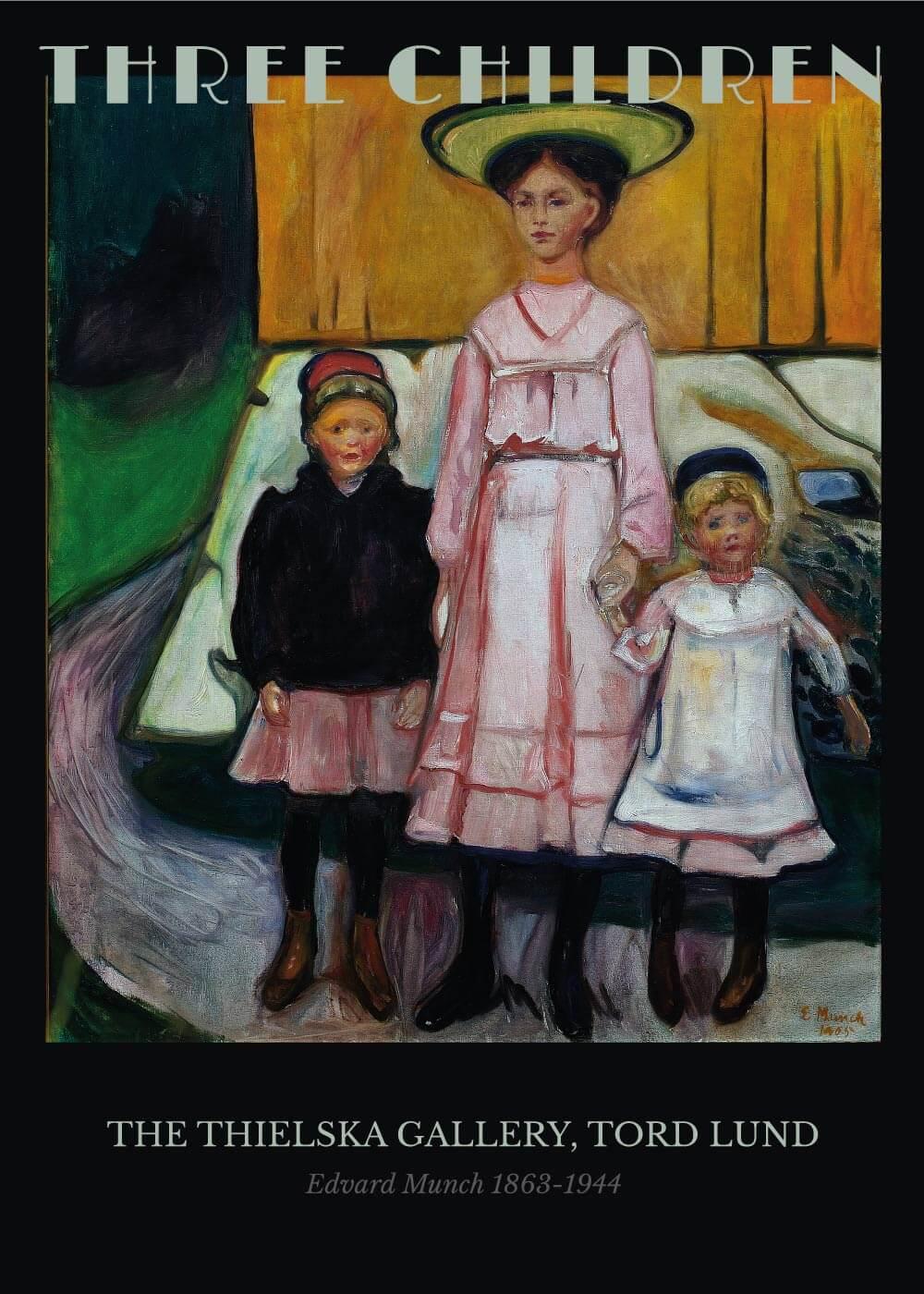 Billede af Three children - Edvard Munch