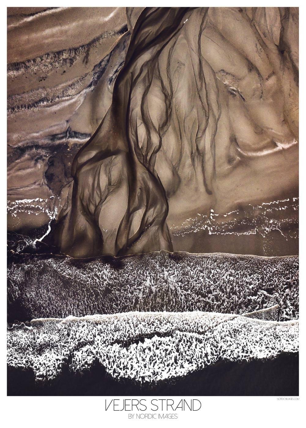 Billede af Vejers strand - Brian Lichtenstein plakat