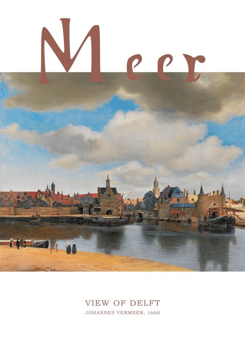Billede af View of Delft - Johannes Vermeer