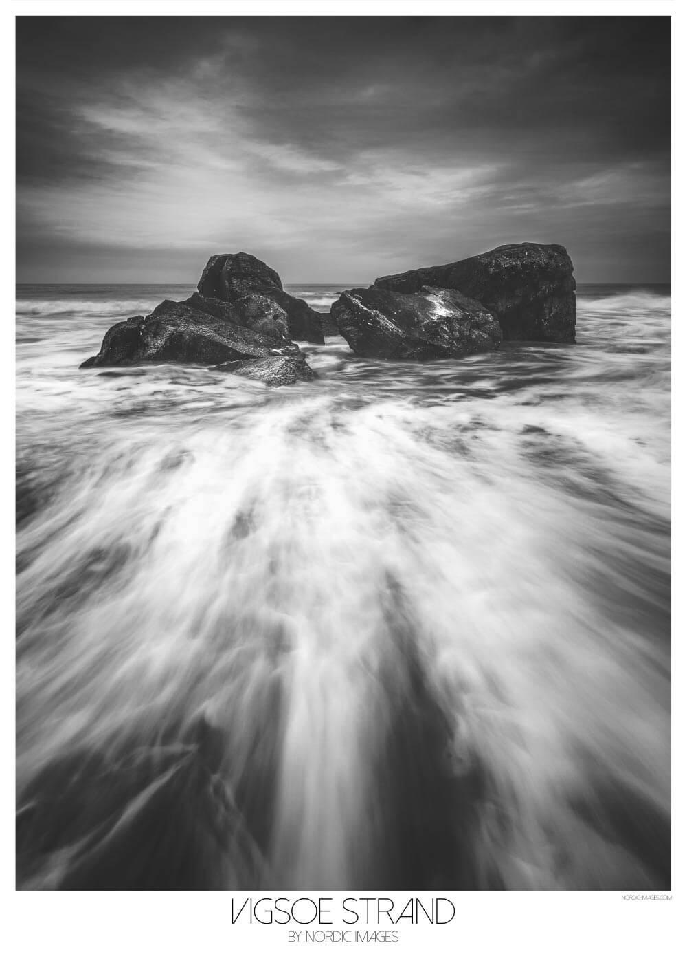 Billede af Vigsø strand - Brian Lichtenstein plakat