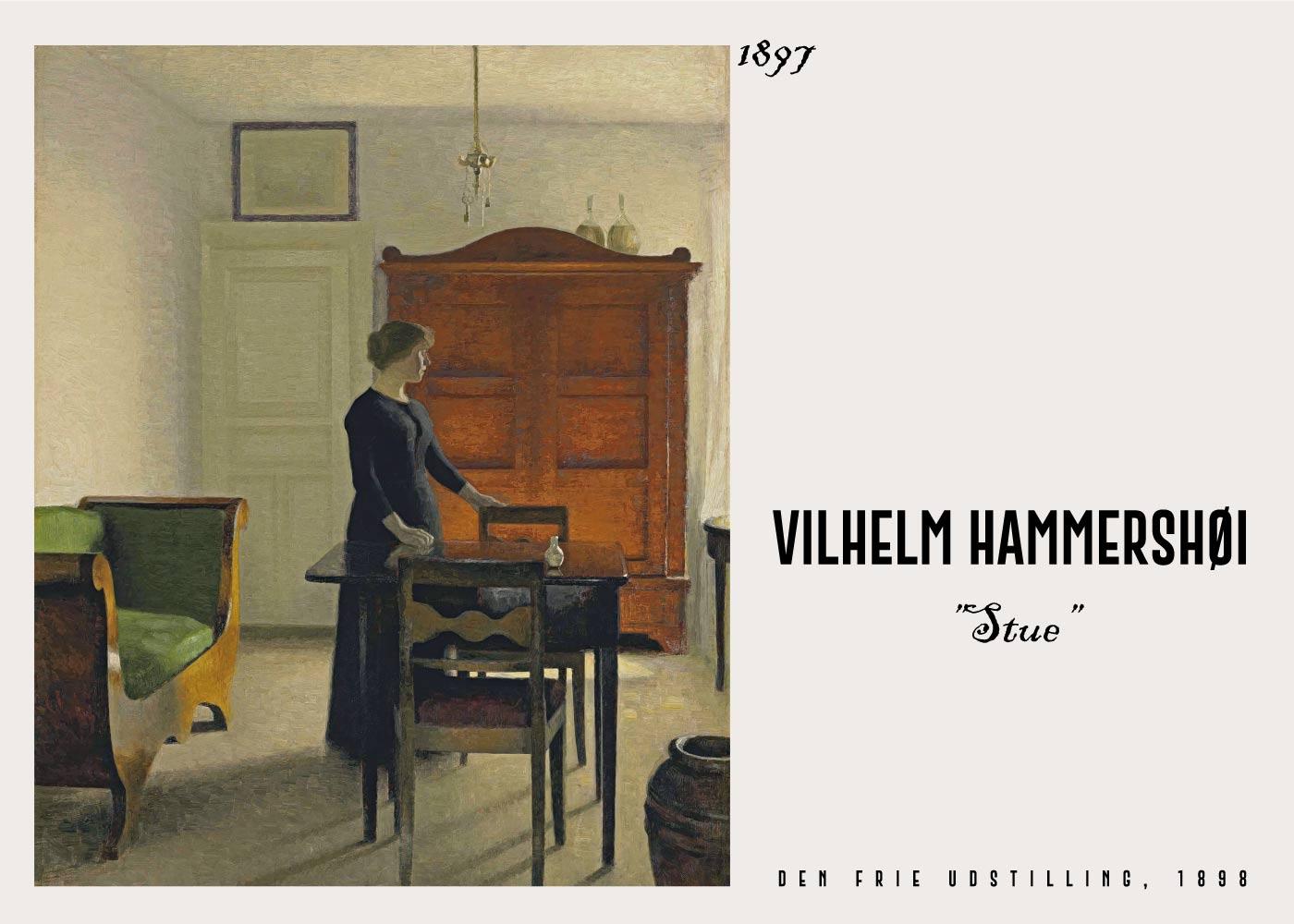 Billede af Stue - Vilhelm Hammershøi Kunstplakat