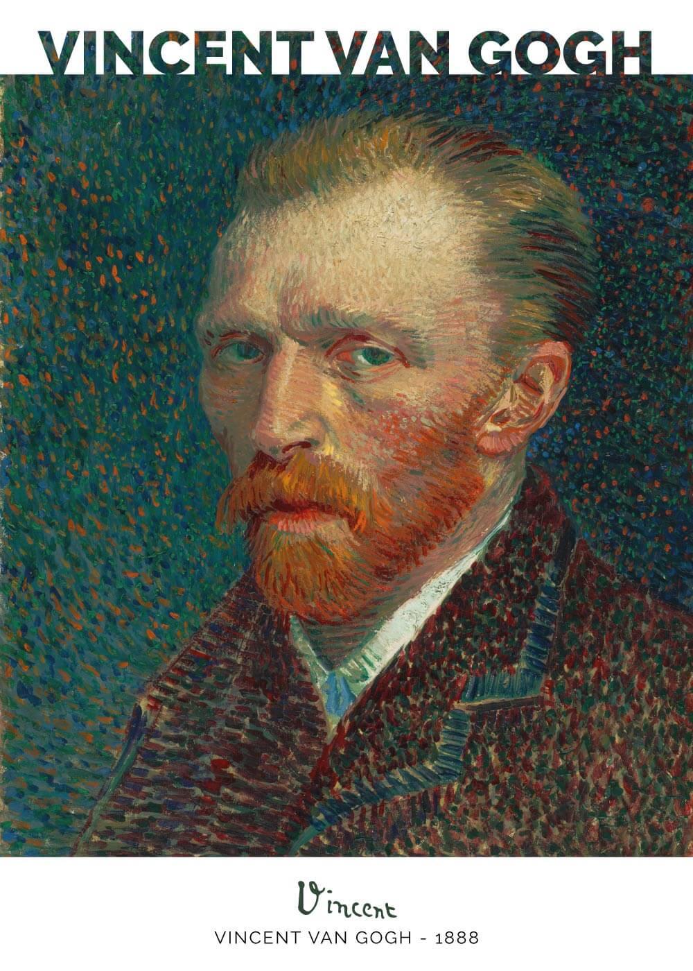 Billede af Self portrait - Vincent Van Gogh