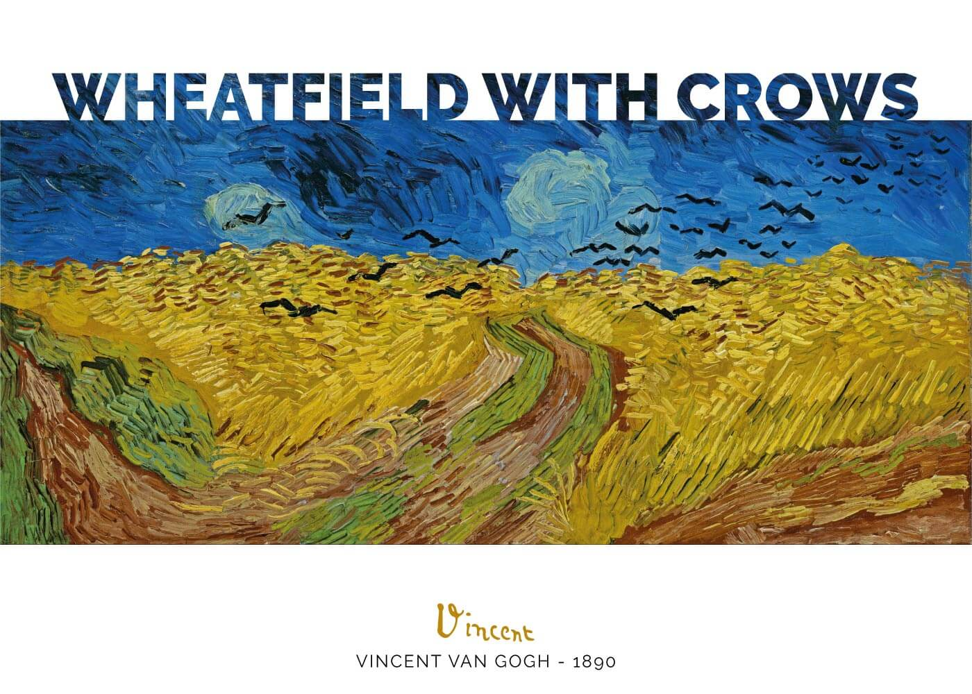Billede af Wheat field with crows - Vincent Van Gogh