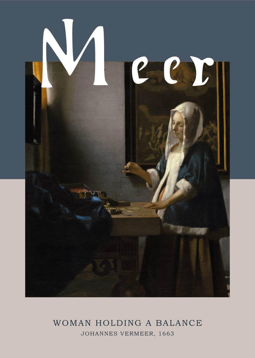 Billede af Woman holding a balance - Johannes Vermeer