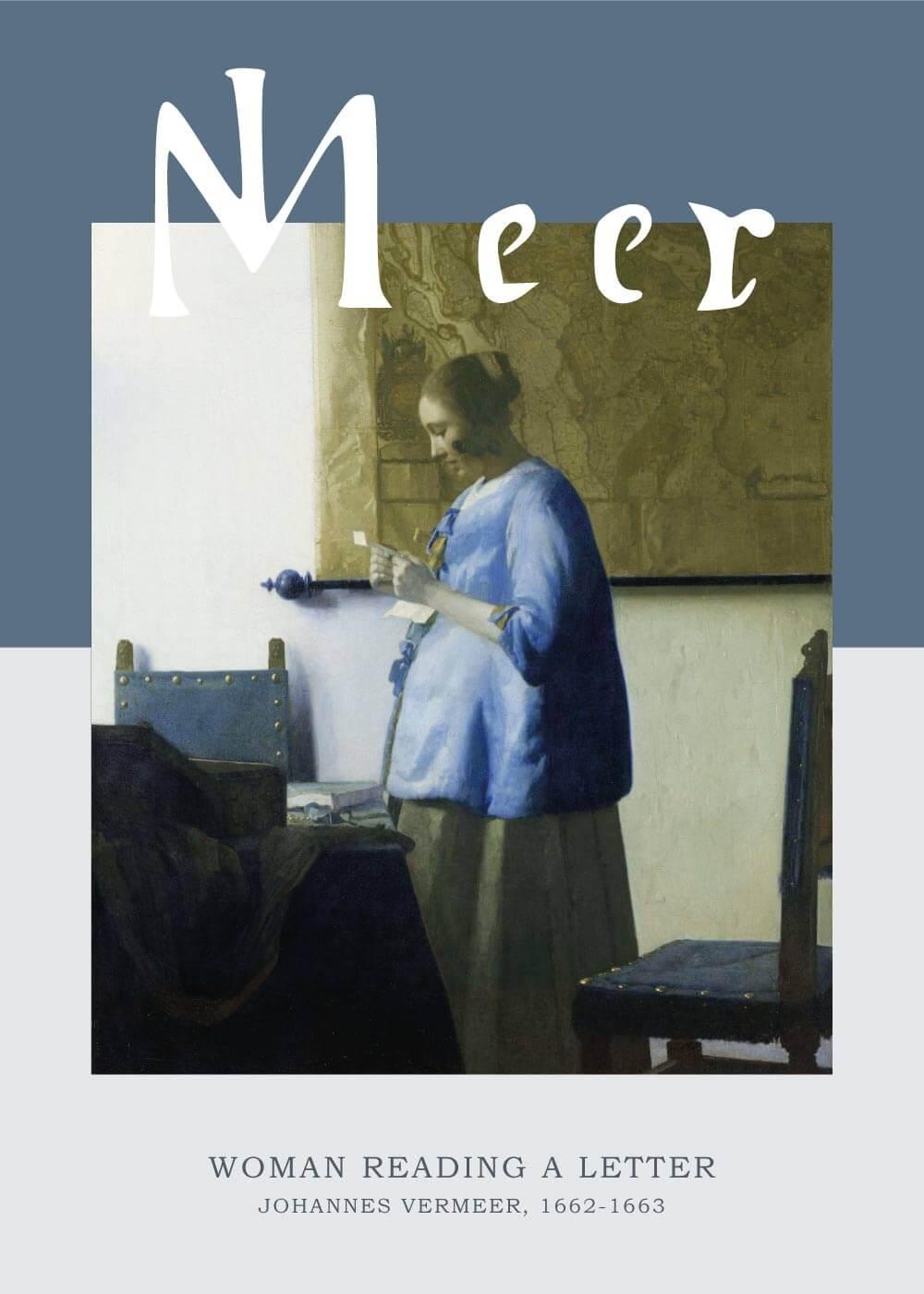 Billede af Woman reading a letter - Johannes Vermeer