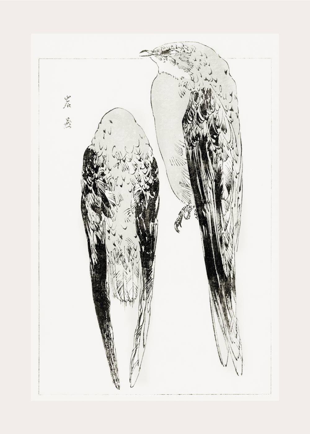 Asian martin - Japansk kunstplakat