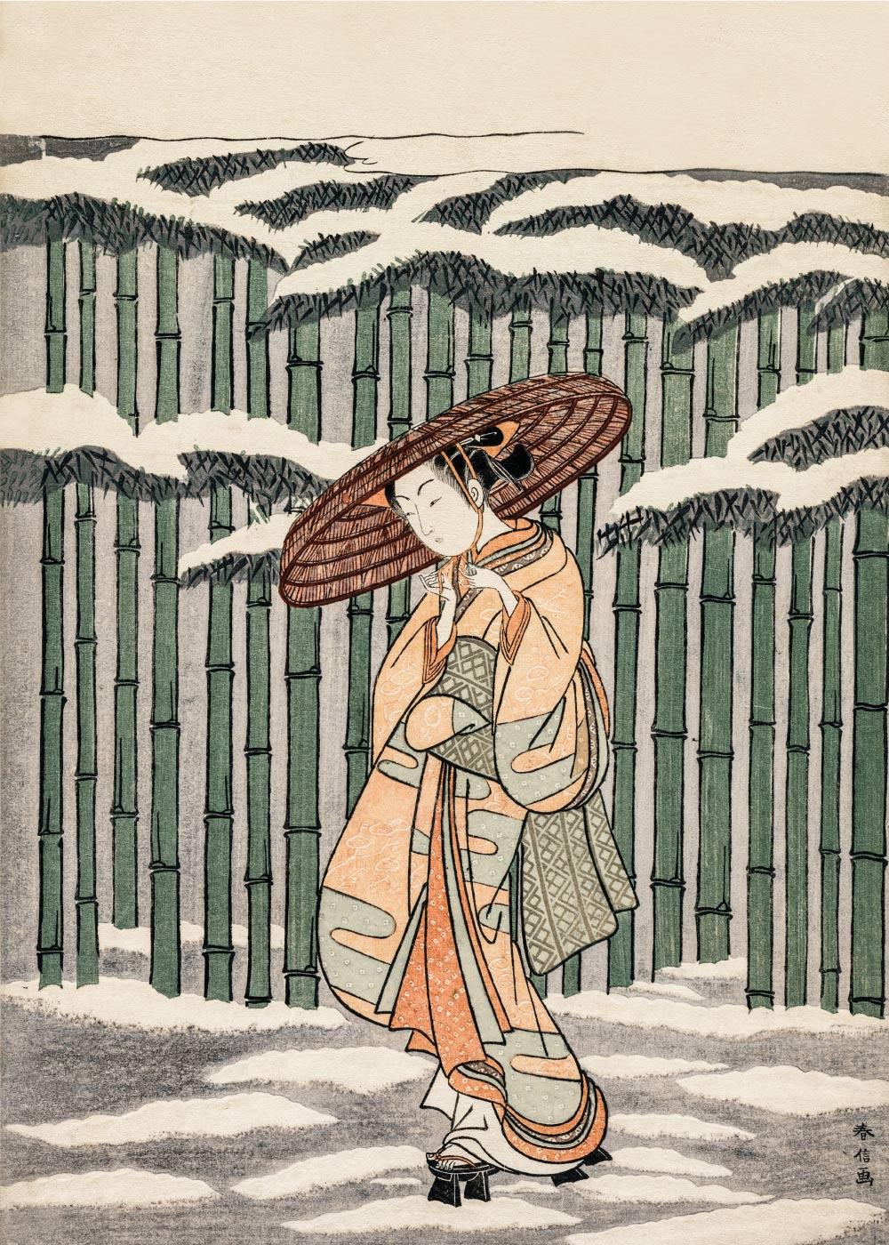 Passing the bamboo grove - Japansk kunstplakat